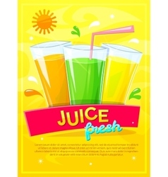 Juice fresh vector image