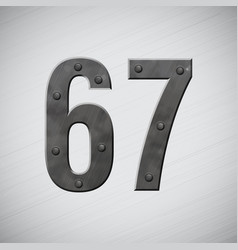 Metal numbers 6 and 7 vector