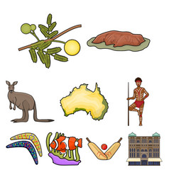 national symbols of australia web icon on vector image