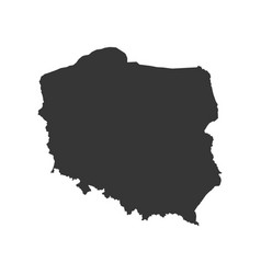 poland map silhouette vector image