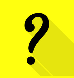Question mark sign black icon with flat style vector