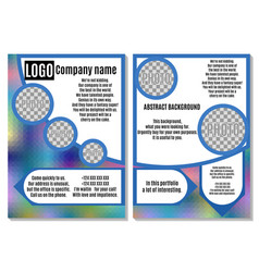 Rainbow brochure with blue elements advertising vector
