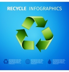 Recycle infographics vector image vector image