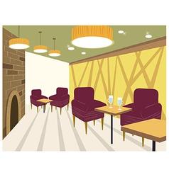 Restaurant Interior background vector image