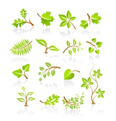 Set of nature icons vector image