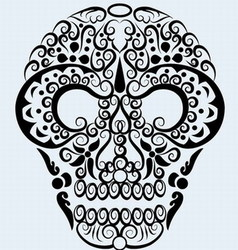 Skull ornament vector image vector image
