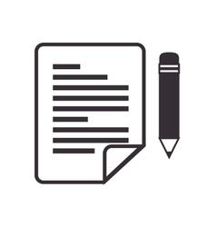 paper pen sheet letter vector image