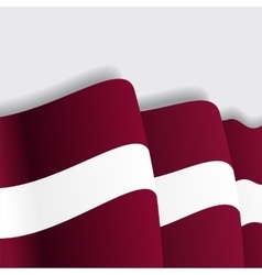 Latvian waving flag vector