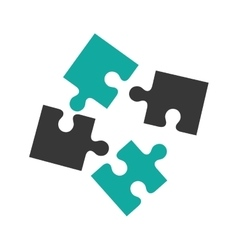 puzzle pieces concept vector image
