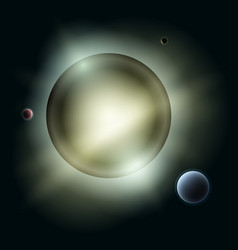 sun with planets in space vector image