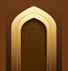 Graceful arabic background vector
