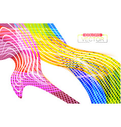 Abstract colors lines curve scene vector