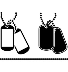 Stencils of dog tags vector