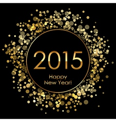 2015 background with gold sparkles vector