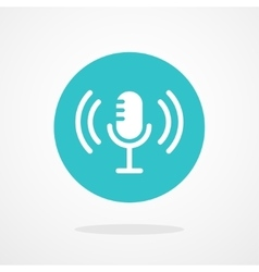 Microphone icon webcast live stream webinar vector
