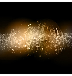 Abstract background with music notes vector image vector image