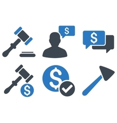 Auction flat icons vector