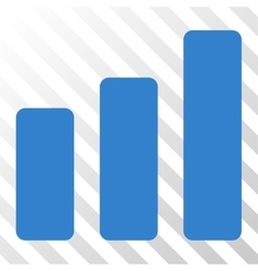 Bar chart increase icon vector