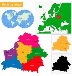 Belarus map vector image