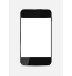 Black Mobile Phone vector image vector image