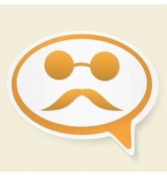 Blind speech bubble vector