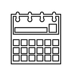 Calendar reminder flat line icon vector