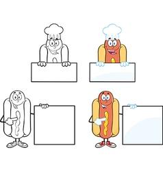 Cartoon hotdog vector