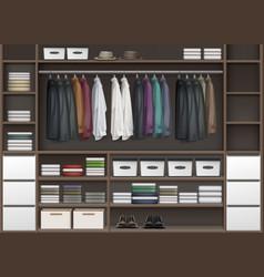 Cloakroom closet vector