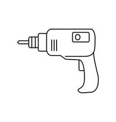Drill line icon vector