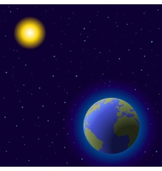 earth and sun vector image