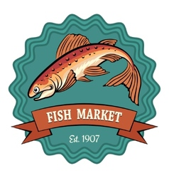 Fish market vector