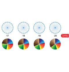 Fraction pie clip art for education on white back vector