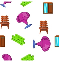 Furniture pattern cartoon style vector image