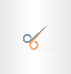 Hair cut scissors icon vector
