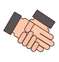 Handshake business isolated icon vector