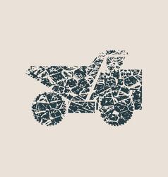 haul or dump truck icon vector image