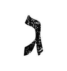 Hebrew letter Gimel Shabby black font The Hebrew vector image vector image