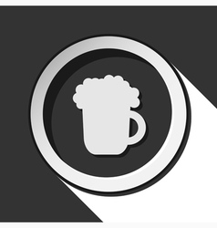 icon - beer with shadow vector image vector image