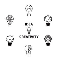 Idea black vector