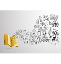 Knowledge from the book vector image vector image