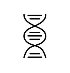 line dna science cell medicine molecule vector image vector image