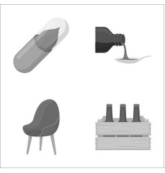 Packaging trade business and other monochrome vector