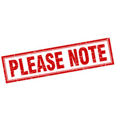 please note square stamp vector image vector image