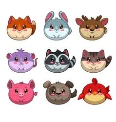 Round animals vector image vector image