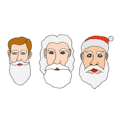 Set of santa claus vector image