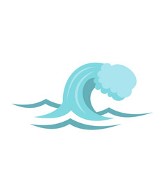 small wave icon cartoon style vector image vector image