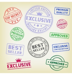 stamp on paper background vector image vector image