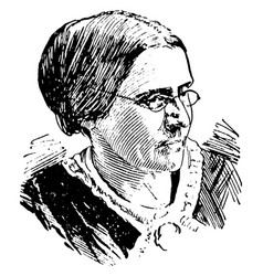 Susan b anthony vintage vector