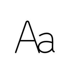 Thin line grammar letter alphabet icon vector