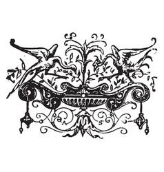 This design multiple birds vintage engraving vector
